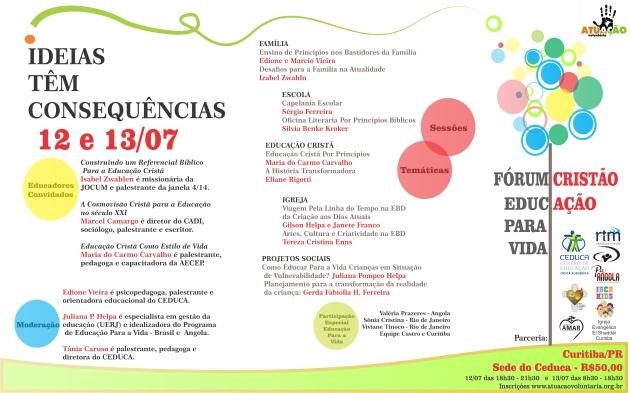 Fórum Cristão de Educadores - 12 e 13 de Julho de 2013